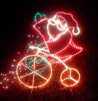 Santa in lights