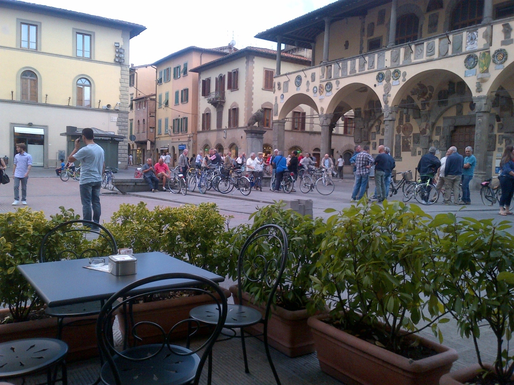 Town piazza viewed from our favourite bar