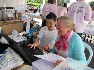 Alex helping me with registrations at Kivilev 2011