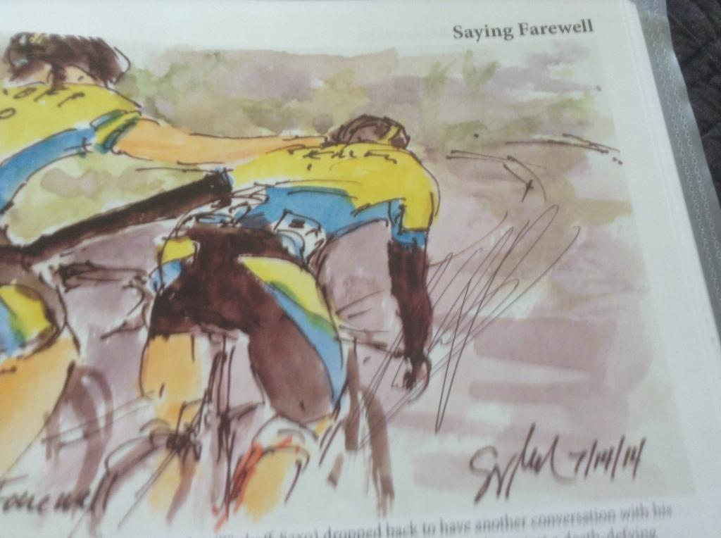 Seven times a grand tour winner: Alberto Contador's signature