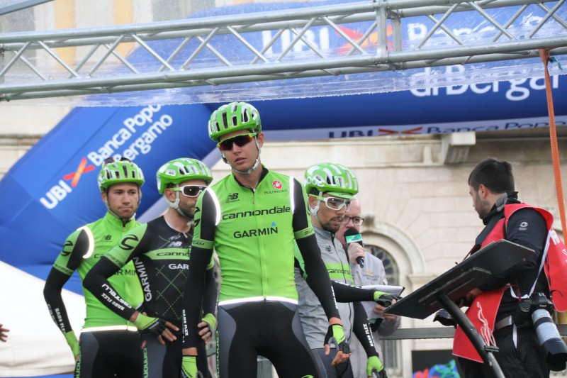 Joe Dombrowski leading the way for the Cannondale boys