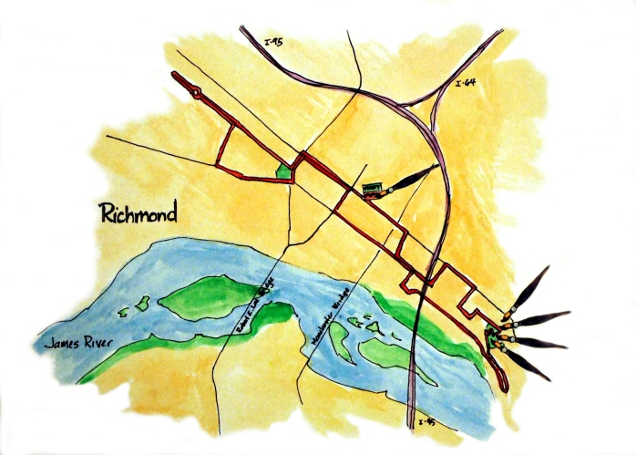 Each race has its own map showing where on the course the riders were painted