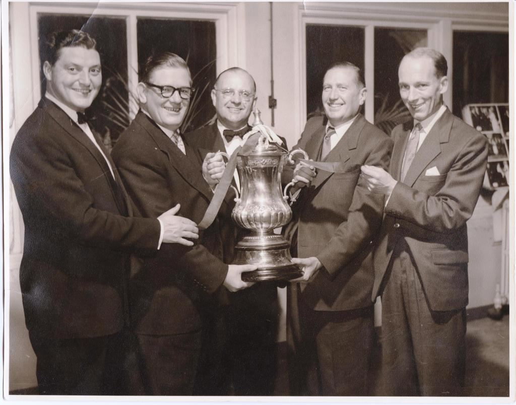 My late father (far left) holding 1957 FA Cup won by AVFC