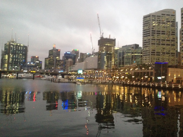 Darling Harbour at dusk
