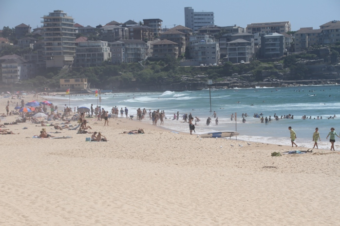 Barely populated Manly Beach