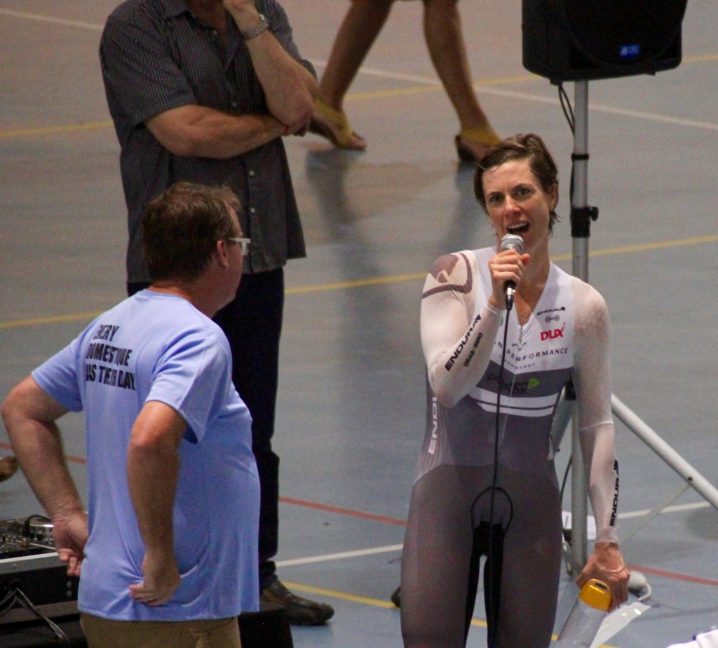 New World Hour Record holder, Dr Bridie O'Donnell