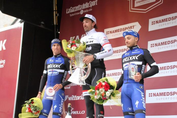 Fabian Cancellara's (Trek-Segafredo) third win in this race