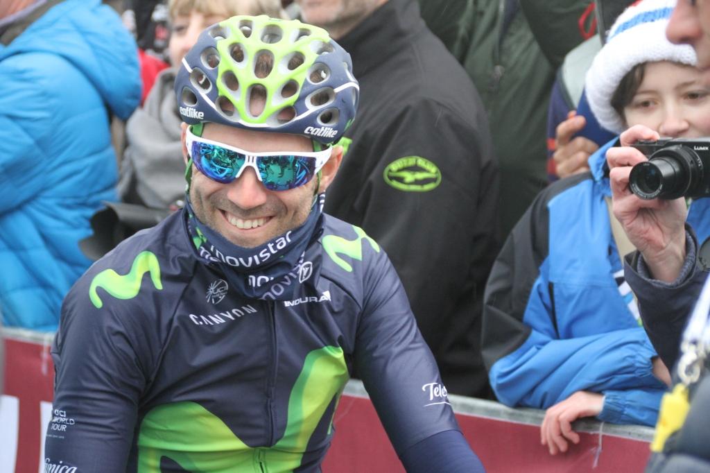 Alejandro Valverde (Movistar) unmasked