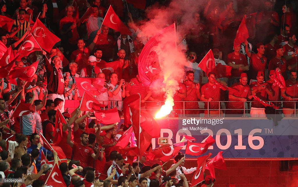 Post-match flares up the Turkish end