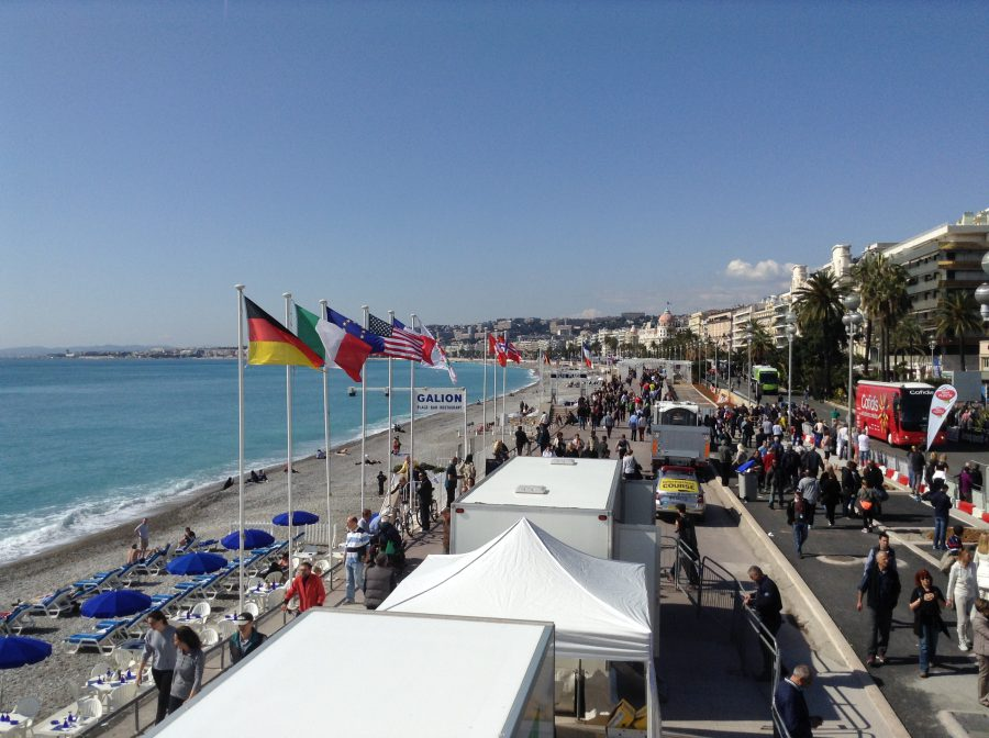The Promenade des Anglais during Paris-Nice 2016