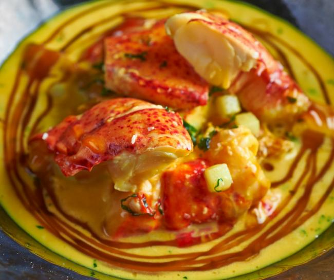 Chicken & Lobster Yellow Curry by Adam Handling (image: Tim Green)