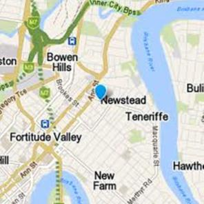 Map of New Farm Newstead and Teneriffe