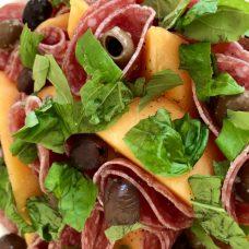 ogen melon and salami salad